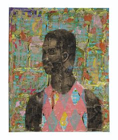 Derek Fordjour (USA) - No. 93,m oil pastel, charcoal, acrylic, cardboard and newspaper mounted on canvas, 30 x 24 in. (2018) First Art, Art Object, Contemporary Paintings, American Art, Growing Up, Original Art, Pastel, Things To Sell, Drawings
