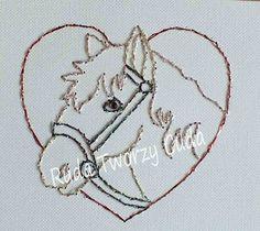 Haftowany koń