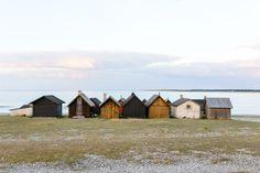 Jon Ottosson - Tillsammans. Tiny houses at Fårö, looking out on the Baltic sea. Available as poster and laminated picture at Printler, the marketplace for photo art.