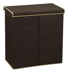 Brown Coffee Double Clothes Sorter with Magnetic Lid Closure, hamper baskets wholesale