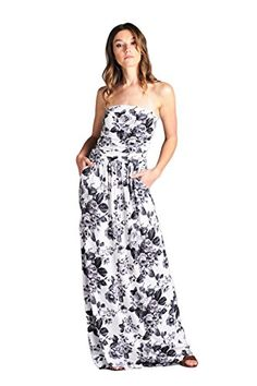 Vanilla Bay Black  White Floral Maxi Dress -- To view further for this item, visit the image link.