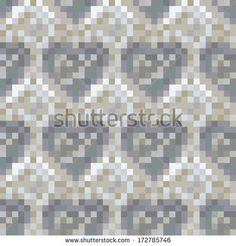 Seamless heart pattern.Grey version. by Catharsis Vectorielle, via Shutterstock