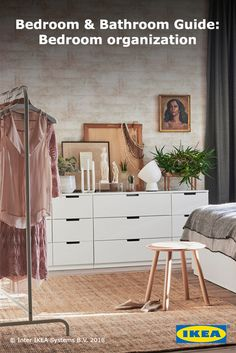 No closet? No problem. Create storage solutions to fit your needs. Consider adding clothing racks to your bedroom to put your personal style on display.