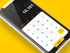 Daily UI Calculator - CalcuBOT designed by Cormac Reidy. Web Design, App Ui Design, Biometric Authentication, Android Design, Mobile Ui Design, Daily Ui, Adobe Xd, Material Design, Calculator