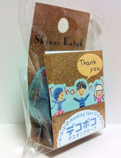 Kawaii Japan Deco Masking Tape:DecoPoco Shinzi Katoh Series Thank You