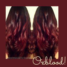 Oxblood Hair Colour