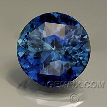 This is pretty with the green through the center.   brilliant blue sapphire