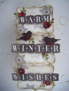 Winter Wall Hanging  Stampin' Up!