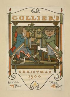 Collier's Magazine poster by Will Bradley, 1900.