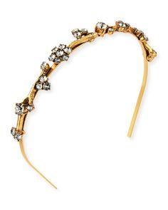 Y2MH6 Oscar de la Renta Crystal Branch Headband