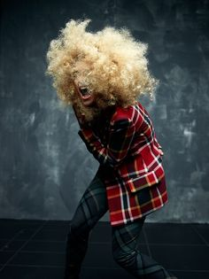 Rita wears another Vivienne Westwood tartan look. Photo: Rankin