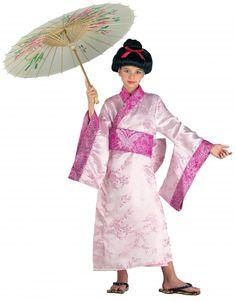 Geishakostüm Luxusgeisha Kimono Kinderkimono Geishakostüm
