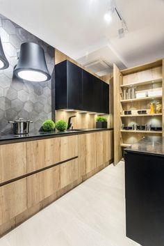 Simple Kitchen Design, Kitchen Room Design, Kitchen Cabinet Design, Living Room Kitchen, Home Decor Kitchen, Interior Design Kitchen, Kitchen Furniture, New Kitchen, Straight Kitchen