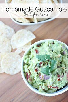 Homemade Guacamole, Easy Guacamole, Cinco De Mayo Recipes