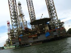Jackup offshore drilling barge in Kochi