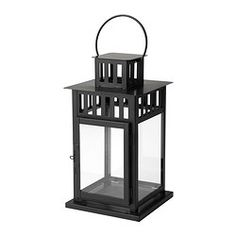 BORRBY Lantern for block candle - IKEA  We can use these and I can get more We have 17 of these and can get some more in a few weeks.  They also come in white.