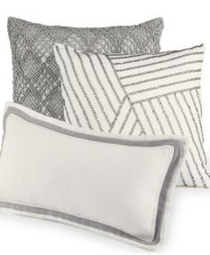 Hotel Collection Linen Fog Decorative Pillow Collection, Only at Macy's