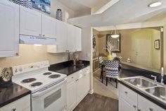 Upgraded Kitchens/Wood Floor Paneling #morrisvilleapartments #durhamapartments #briercreekapartments