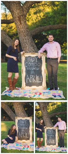pregnancy announcement idea with frame