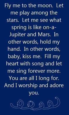 Frank Sinatra - Fly Me to the Moon - song lyrics song quotes songs music lyrics music quotes #music