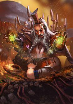 Dwarven Spore Mage by Lothrean   Digital Art / Drawings & Paintings / People / Fantasy   Character Concept Dwarf Evoker Chloromancer Healing Magic