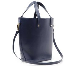 navy leather elwin by lost property of london