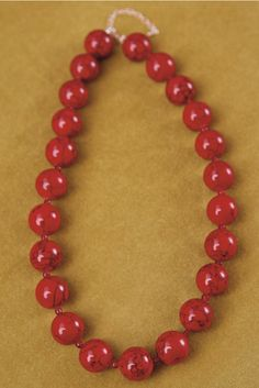 Lady in Red Necklace Red Necklace, Beaded Necklace, Timeless Beauty, Lady In Red, Lily, Beads, Winter, Jewelry, Beaded Collar