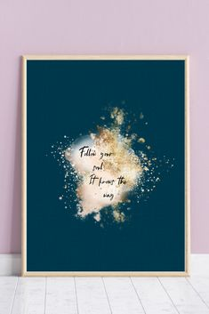 This beautiful wall decor is an INSTANT DOWNLOAD printable which you can print as many times as you want! After purchase, you will get a digital file for printing out from your home or at your local print shop.  In your file you will receive 4 different sizes: 5 X 7 inches, 8 X 10 inches, European standard A4 and US letter (8.5 X 11 inches). Recommended material: heavy paper. Please note: Computer monitors vary in the way they display colors. This image is for your own personal use only. Quote Prints, Art Prints, Gold Wall Art, Your Soul, Spiritual Gifts, International Paper Sizes, Beautiful Wall, Affordable Art, Poster Wall