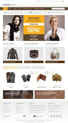 Leather Market - Magento Responsive Theme   Live Preview and Download: http://themeforest.net/item/leather-market-magento-responsive-theme/7469314?WT.ac=category_item&WT.z_author=TemplateMela&ref=ksioks