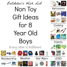 Every Star Is Different: Non Toy Gift Ideas for 8 Year Old Boys