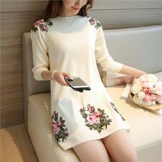 Original Price US $31.50 Sale Price US $26.78 National style long sleeved temperament was thin sets of knitted embroidered knit underwear embroidery 100% better using these strategies #pullovers_sweaters