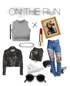 ON THE RUN by jdjmacpherson on Polyvore featuring polyvore, fashion, style, Burberry, Boohoo, Converse, Chanel, Eva Fehren, Acne Studios, Urban Decay and clothing