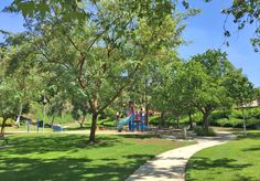 Madrid Fore Park in Mission Viejo. Picturesque smaller park with mature trees, playground, seating and green lawns. Easily accessible. Nice!