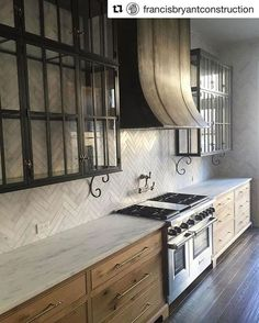 48 Cool Modern Farmhouse Kitchen Backsplash Ideas - LuvlyDecor