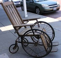 Antique Vintage Wood Wooden Medical Wheelchair By Gendron Wheel Co ...