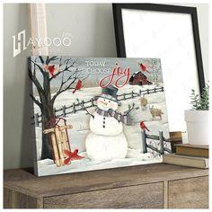 Christmas Wall Art Canvas, Canvas Wall Art, Canvas Prints, Choose Joy, Canvas Material, Beautiful Christmas, Wall Art Decor, Sheep, Photo Canvas Prints