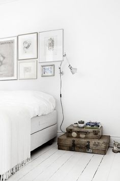 white + grey bedroom decor