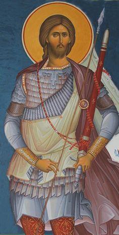 St. Artemie - Fresco Byzantine Icons, Egg Art, Religious Icons, Orthodox Icons, Persecution, Christian Faith, Christianity, Saints, Religion