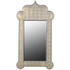 Jasmine Wall Mirror ($250) ❤ liked on Polyvore featuring home, home decor, mirrors, geometric mirror, geometric wall mirror, geometric home decor and inspirational home decor