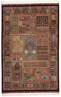 Beige 3 x 1 Qom Persian Rug Iranian Rugs, Iranian Art, Persian Carpet, Persian Rug, Oriental, Traditional Chinese, Rugs On Carpet, Area Rugs, Textiles