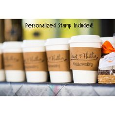 250 Custom Coffee Sleeves with CUSTOM STAMP by tulleANDtwig