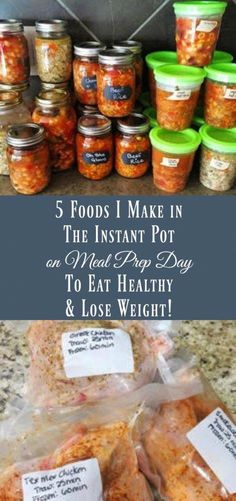 Eat Stop Eat To Loss Weight - 5 Foods I Make In The Instant Pot On Meal Prep Day To Eat Healthy and Lose Weight - Organize Yourself Skinny - In Just One Day This Simple Strategy Frees You From Complicated Diet Rules - And Eliminates Rebound Weight Gain Power Pressure Cooker, Instant Pot Pressure Cooker, Pressure Cooker Recipes, Slow Cooker, Pressure Cooking, Pressure Pot, Make Ahead Meals, Freezer Meals, Freezer Recipes