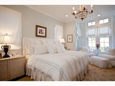 I love white rooms, although I would do a little more at the windows ...