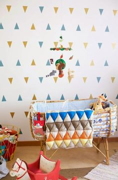 Lots of pattern but it works. #nursery #decor