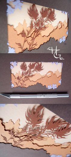 Desert Bloom, 6 layers of hand cut paper, inches, by Hazel Glass. Laser Paper, Desert Flowers, Paper Illustration, Papercutting, Paper Artist, Origami Art, Cut Paper, Landscape Art, Diy Art