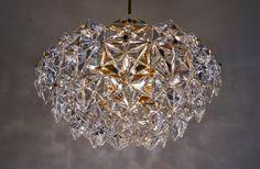 Kinkeldey chandelier, faceted crystals & gilt, 1970`s ca, German in Kinkeldey Lighting @ www.roomscape.net