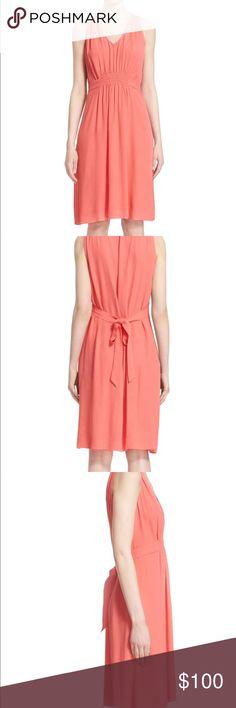 NWT Kate Spade Tie Back Dress in Watermelon - vneck -sleeveless  - tie back - 100% viscose kate spade Dresses