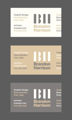 Brandon Harrison's Business Card, more designs: http://ibrandstudio.com/inspiration/creative-designer-personal-business-cards