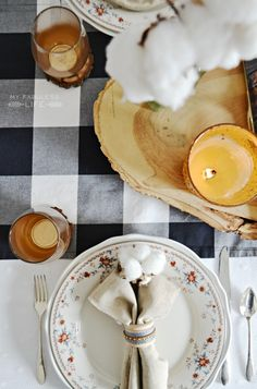 Rustic Vintage Thanksgiving Table Setting | See More at MyFabulessLife.com