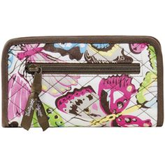 "Product # 3003  Soft Wallets    Fashion and function make this a great wallet for every Thirty-One bag. Plenty of slots for credit cards, and flat pockets for cash and receipts. Measures approx: 4""H x 7""W x 1""D  Price: $22.00"